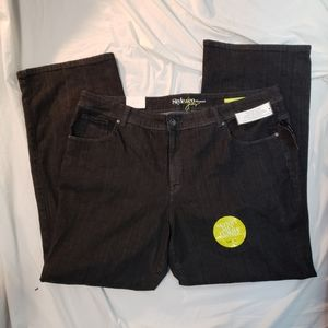 Style Co Boot Cut Black Jeans Sz 22W Tummy Control